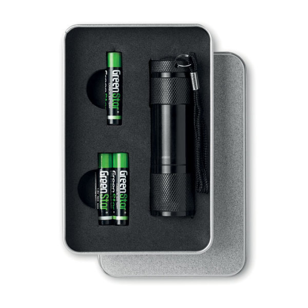 LED PLUS - LED torch in tin box