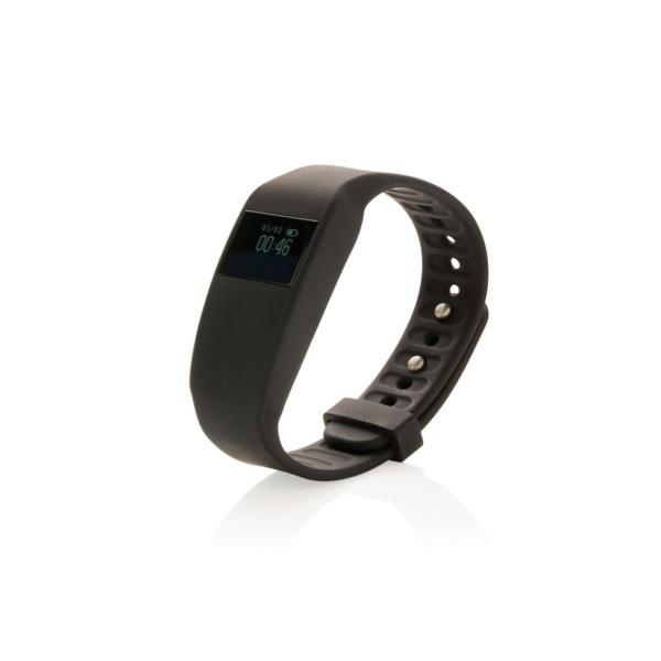 Swiss Peak activity tracker met dynamische hartslagmeter, zw