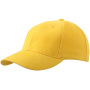 6 Panel Cap Laminated goudgeel