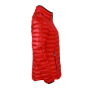 Ladies' Quilted Down Jacket - rood/zwart