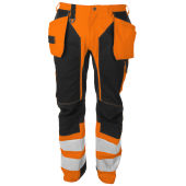 PROJOB 6513 PANTS HV ORANGE/BLACK C156