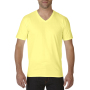Gildan T-shirt Premium Cotton V-Neck SS for him Cornsilk M