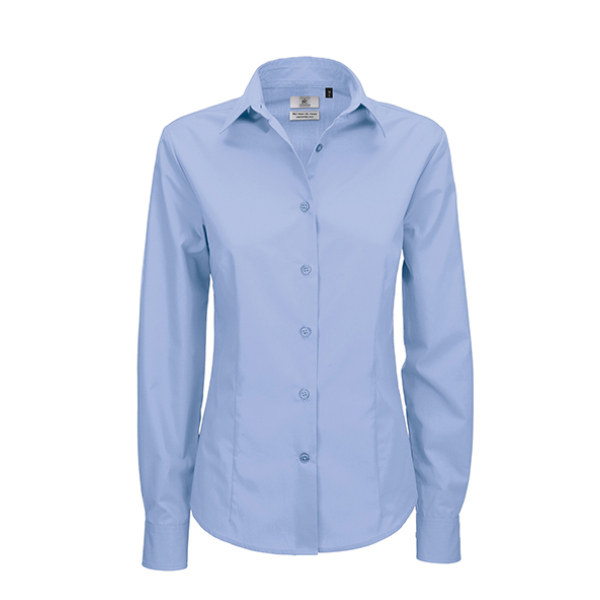 Ladies' LS Poplin Shirt - SWP63