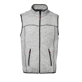 Knit fleece vest
