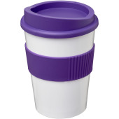Americano® medio 300 ml beker met grip - Wit/Paars