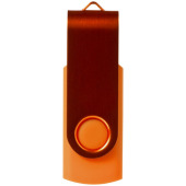 Rotate-metallic USB 2GB - Oranje