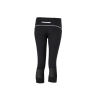 Ladies' Running Tights 3/4 zwart/wit