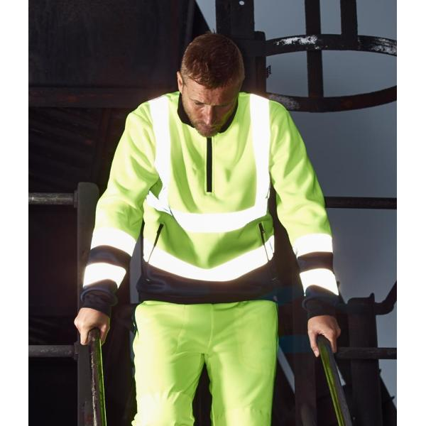 Hi-Vis Two Tone Zip Neck Sweatshirt