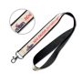 Polyester lanyard with sublimated satin overlay