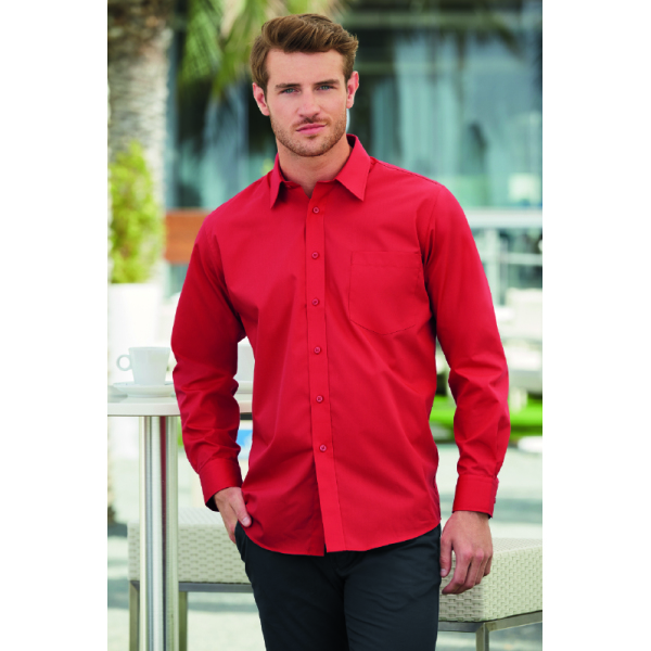 Men longsleeve Poplin Shirt