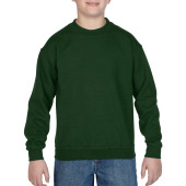 Gildan Sweater Crewneck HeavyBlend for kids Forest Green XS