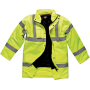 Motorway safety parka yellow s