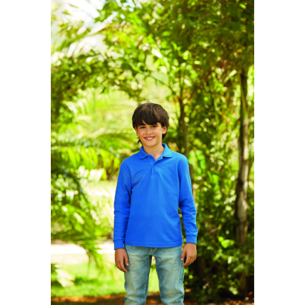 Kids 65/35 Longsleeve Polo
