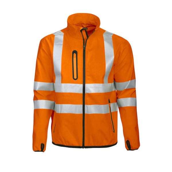 6412 Projob HV Softshell Jacket