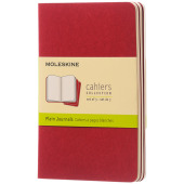 Cahier Journal PK - effen - Cranberry rood