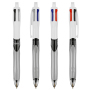 4 Colours 3+1Hb ballpen Grey LP_White UP