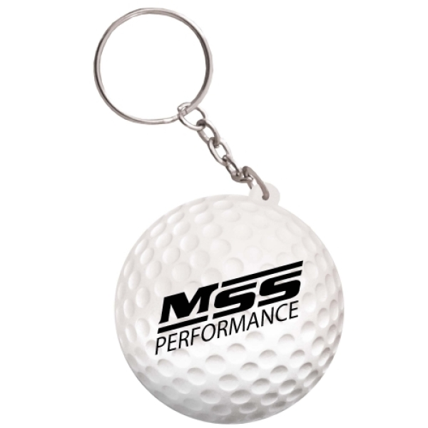 Anti-stress golfbal sleutelhanger