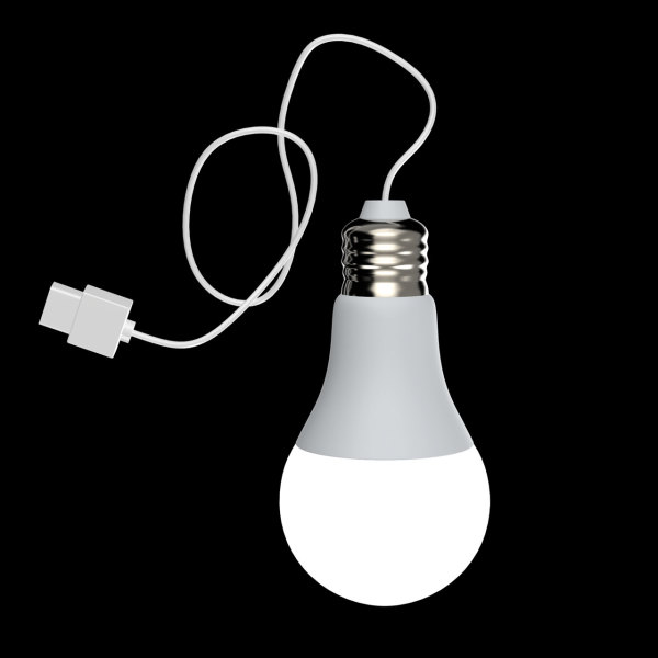 USB LED Bulb - white