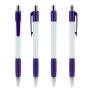 White Striped Grip pen NE-Violet/Blue Ink