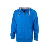 Men's Lifestyle Zip-Hoody - kobalt/heather grijs