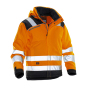 Jobman 1347 Hi-vis winter jacket star oranje/zwart xs