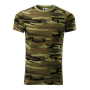 Camouflage T-shirt unisex camouflage green XS