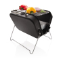Barbecue portable format valise, noir