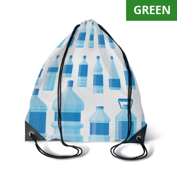 RPET Drawstring bag with PU corners