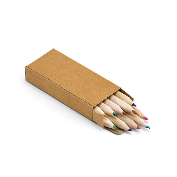 Crafti. Pencil box with 10 coloured pencils