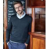 Merino Blend V Neck Sweater
