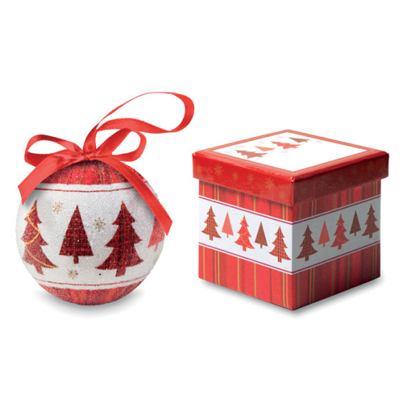 SNOWY - Christmas bauble in gift box