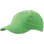 6 Panel Cap Laminated lime