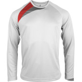 white / sporty red / storm grey xl