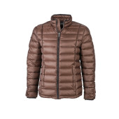 Men's Quilted Down Jacket - koffie/zwart