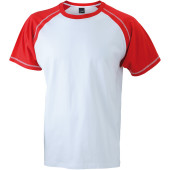 Men's Raglan-T - wit/rood