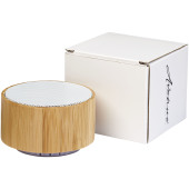 Cosmos bamboe Bluetooth® speaker - Hout/Wit