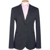 Cordelia ladies' jacket charcoal pin dot 46 eu (18 uk)
