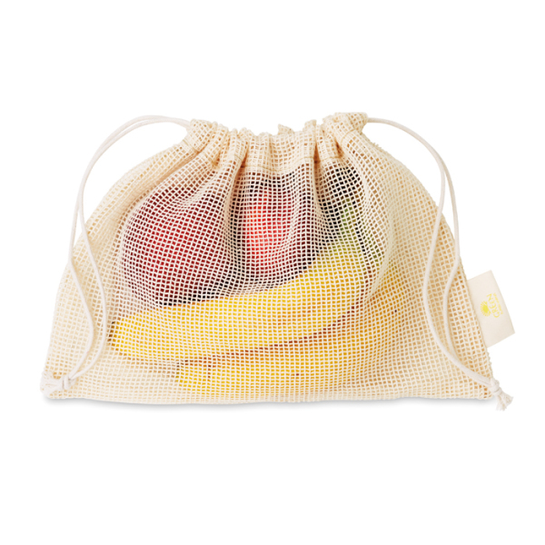 Mesh cotton grocery bag