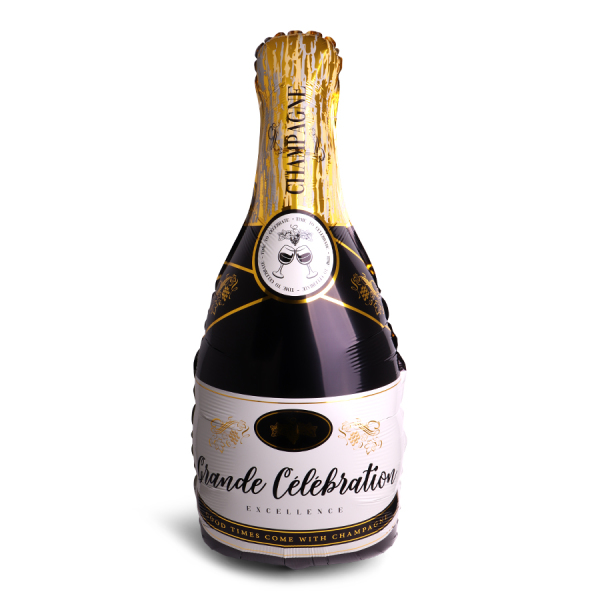 SENZA Foil Balloon Happy NY Champagne XL