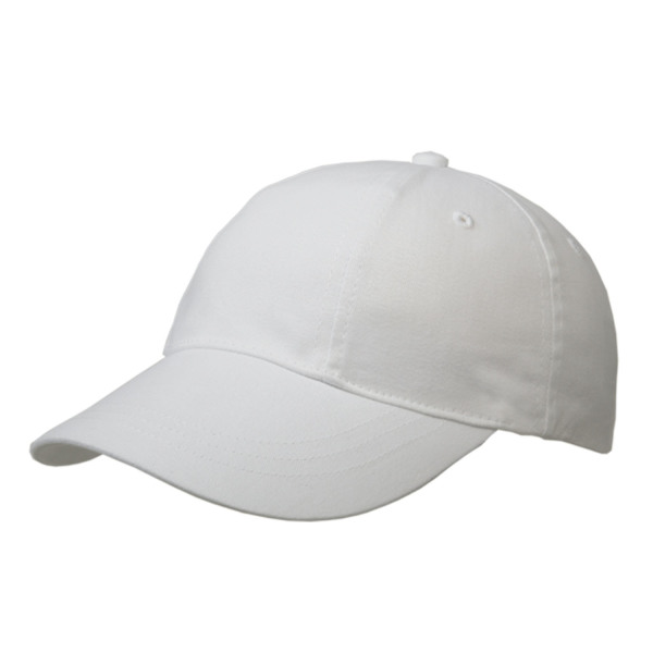 Brushed 6 Panel Cap, Turned Top