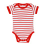 Baby Striped Bodysuit Miles 03-06 Monate White/Red