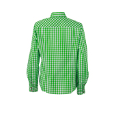 Ladies' Traditional Shirt - groen/wit