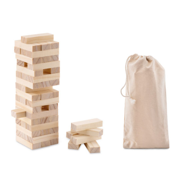 PISA - Tower game in cotton pouch