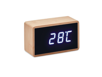 MIRI CLOCK - LED alarm clock bamboo casing