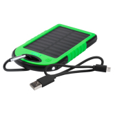 USB power bank met zonne energie lader