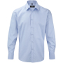 Men's long sleeve herringbone shirt light blue s