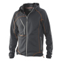 5152 Hooded Fleece Sweater graphite/orange s