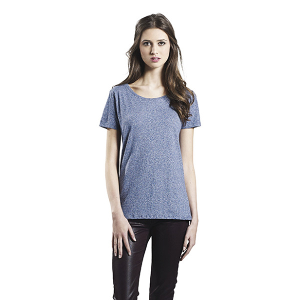 WOMEN'S SPECIAL YARN EFFECT T-SHIRT