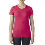 Anvil T-shirt Crewneck TriBlend SS for her heather red XXL