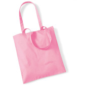 Bag for life - long handles classic pink one size